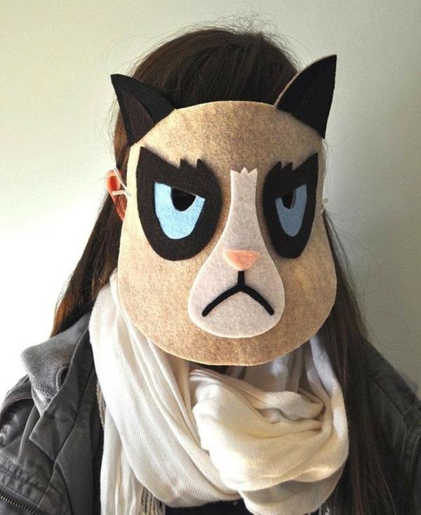 masque halloween à fabriquer vous-même grumpy cat