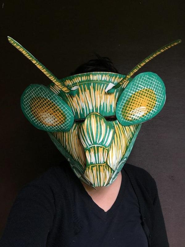 masque halloween à fabriquer vous-même insecte