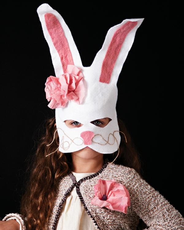 masque halloween à fabriquer vous-même lapin