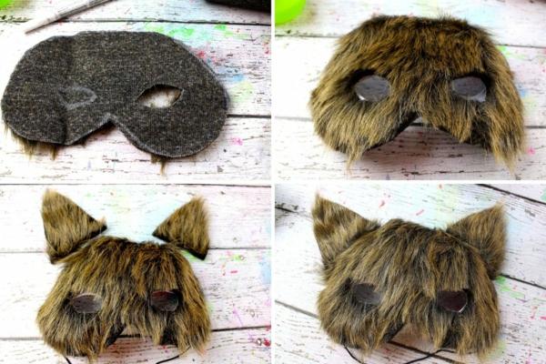 masque halloween à fabriquer vous-même loup