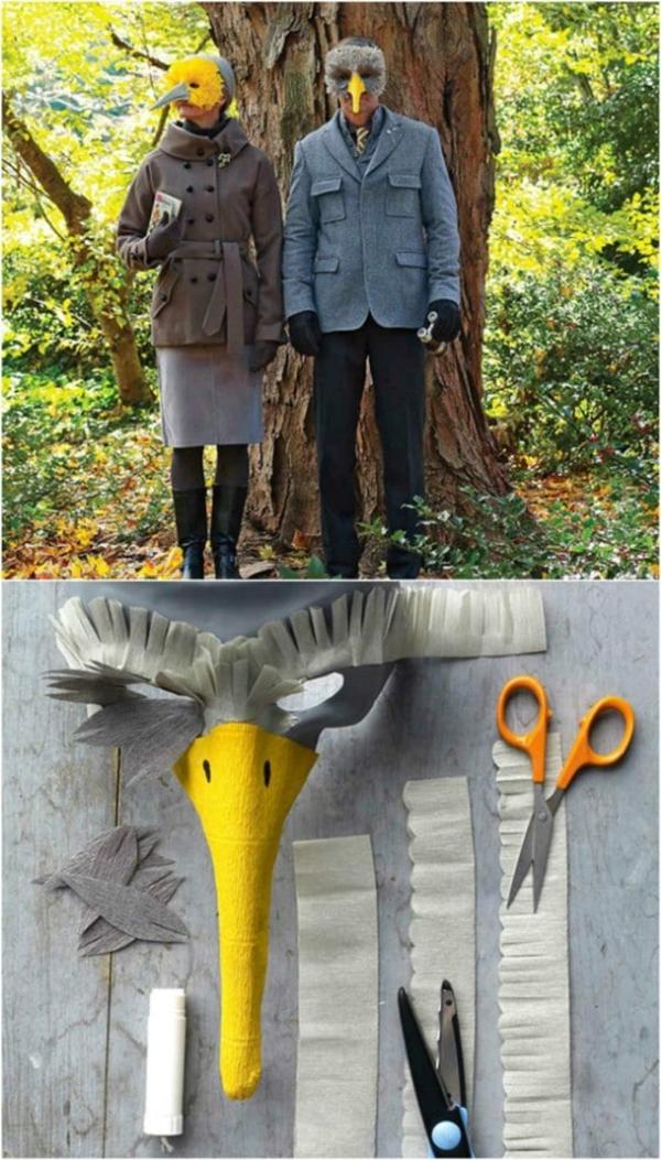 masque halloween à fabriquer vous-même oiseau