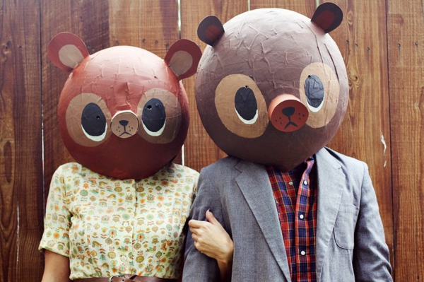 masque halloween à fabriquer vous-même ours