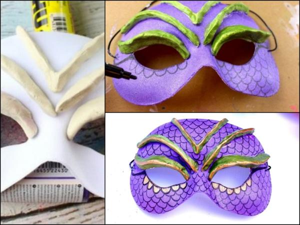 masque halloween à fabriquer vous-même pâte à modeler