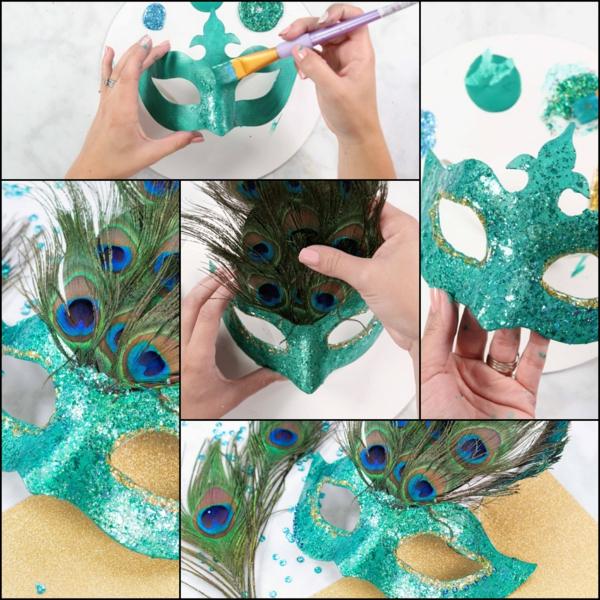 masque halloween à fabriquer vous-même paon