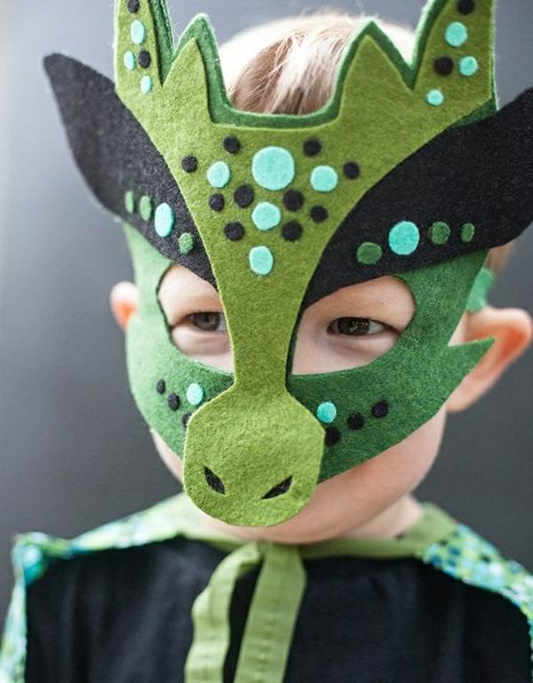 masque halloween à fabriquer vous-même pour enfant dragon