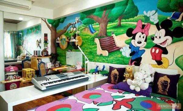 mobilier chambre enfant art mural