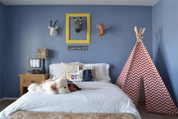 mobilier chambre enfant avec un tipi