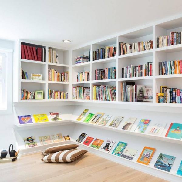 mobilier chambre enfant coin livres