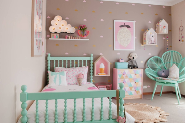 mobilier chambre enfant idée pour une fille
