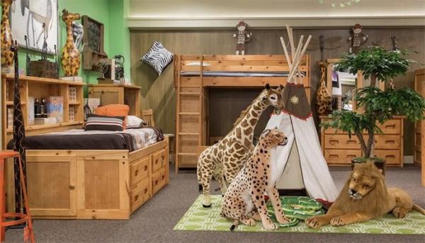 mobilier chambre enfant le thème de la jungle