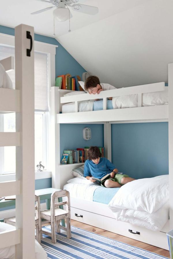 mobilier chambre enfant lits superposés