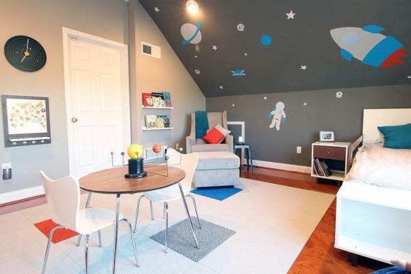 mobilier chambre enfant pour regarder le ciel