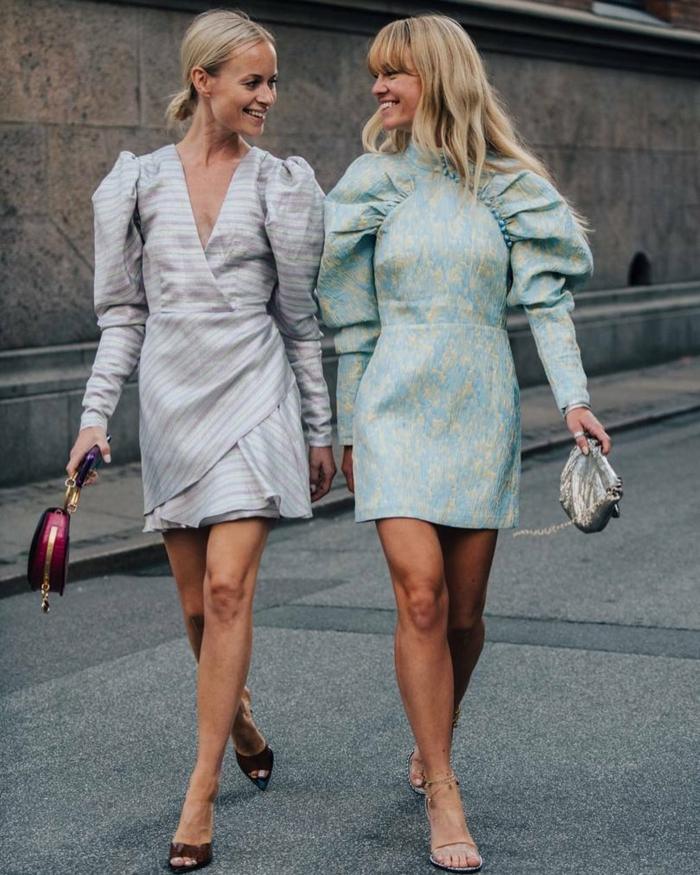 mode femme 2020 vêtements à manches bouffantes