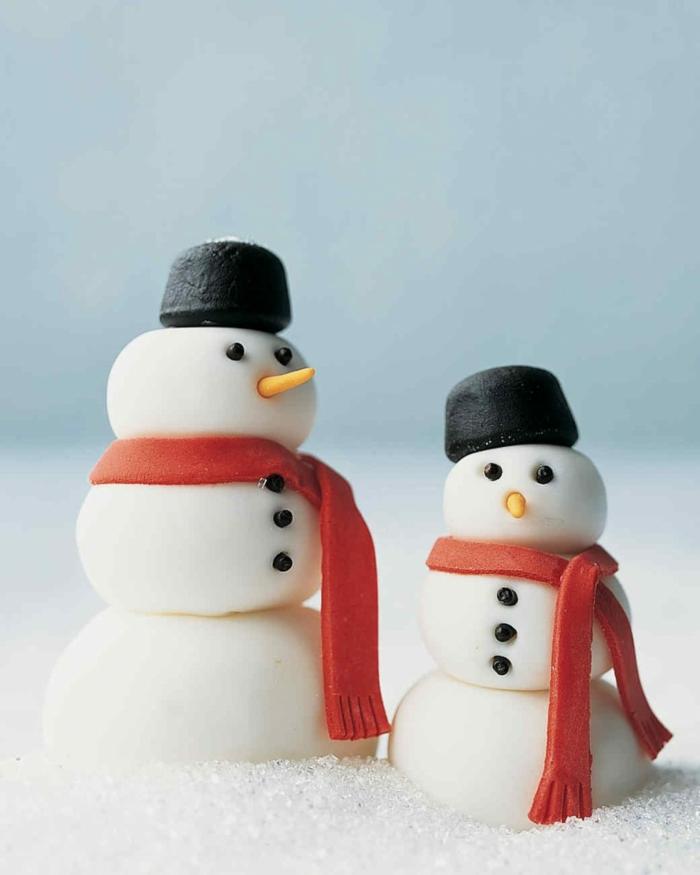pâte fimo idée diy noël bonhomme de neige en chaussette