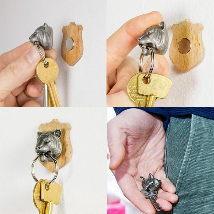 porte clés mural aimanté
