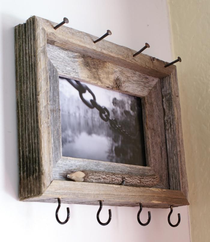 porte clés mural avec cadre photo