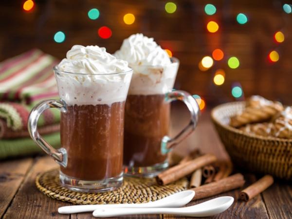 recette d'automne légère du chocolat chaud