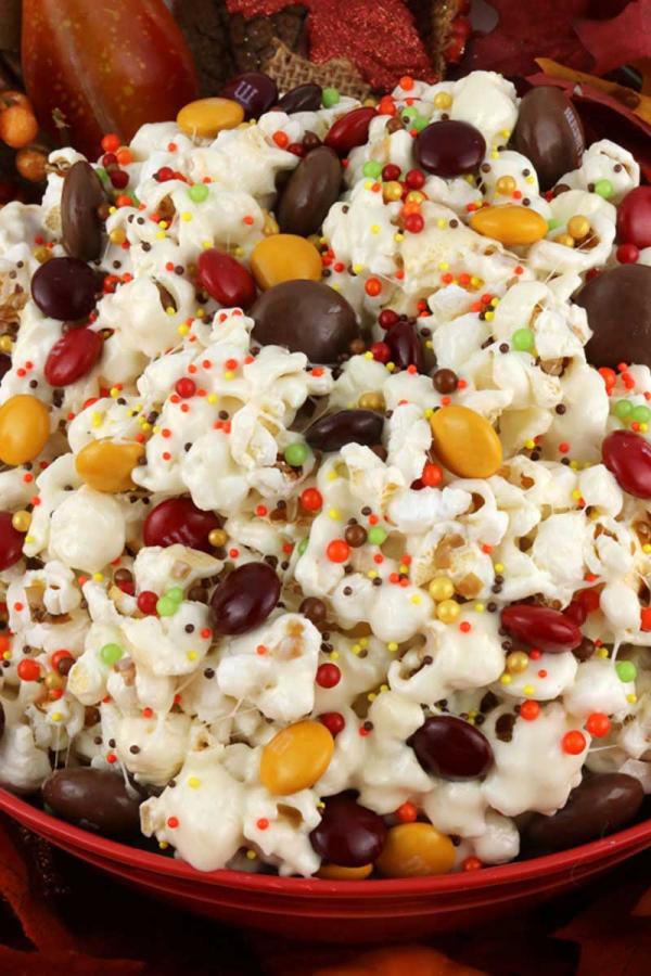 recette d'automne légère des popcorns