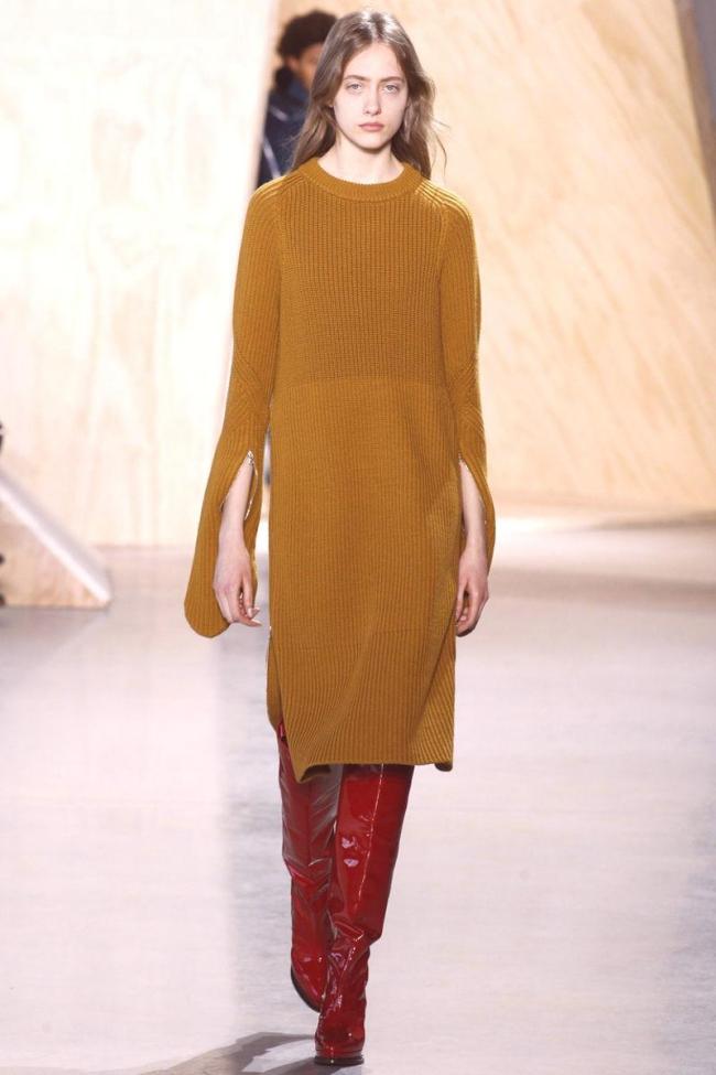 robe maille femme teinte orange brûlée