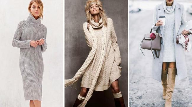 robe maille femme trois types de robes