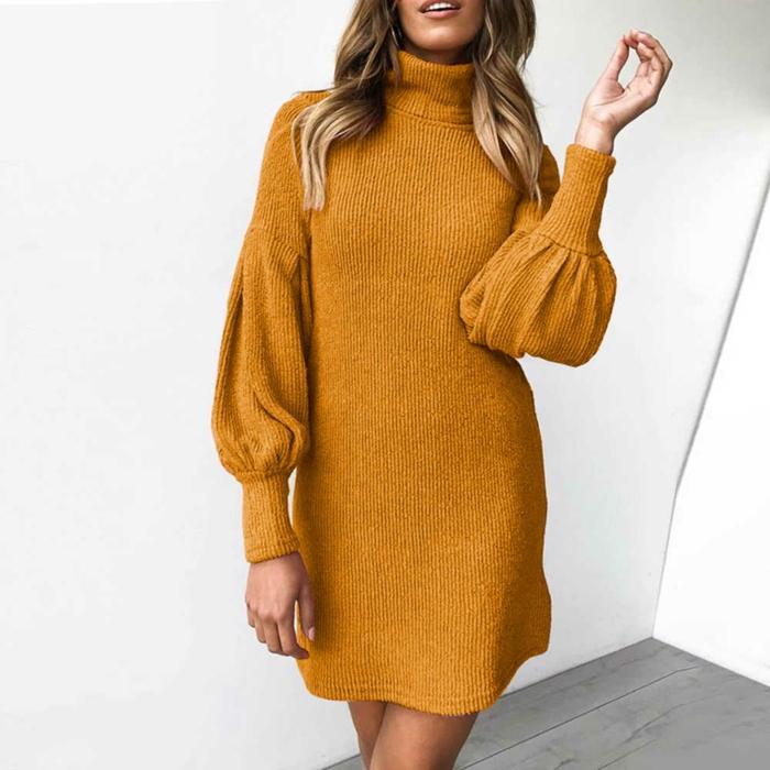 robe pour l'hiver à manches bouffantes