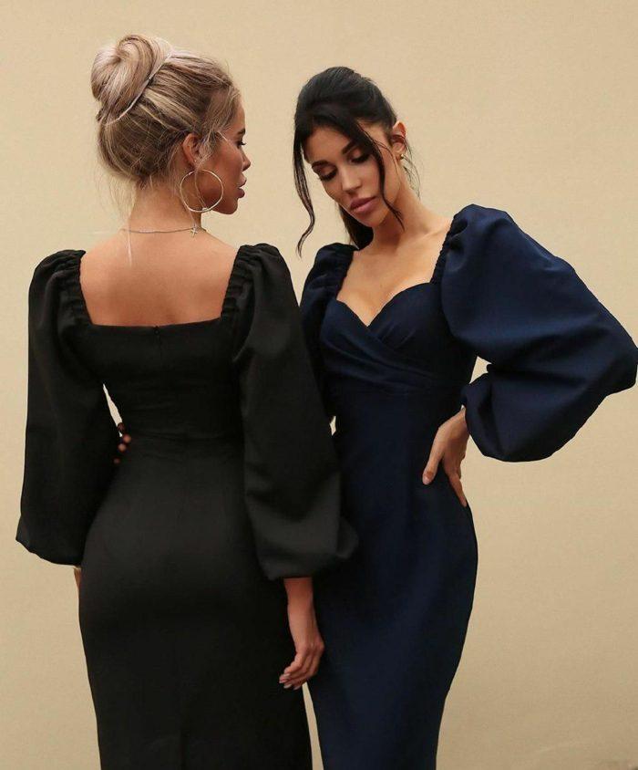 robe tendance mode femme 2020 manches bouffantes