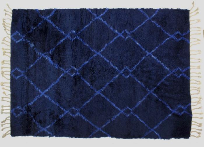 tapis imprimé animal franges aux bouts