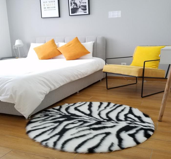 tapis imprimé animal peau de tigre