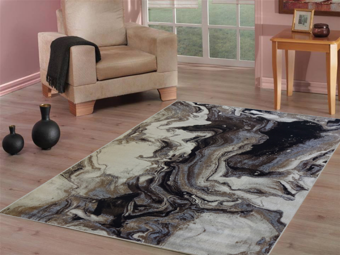 tapis imprimé animal joli contraste