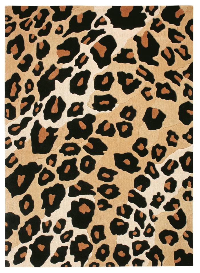 tapis imprimé animal la peau léopard