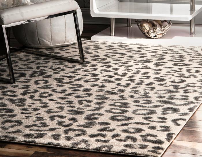 tapis imprimé animal au fil court