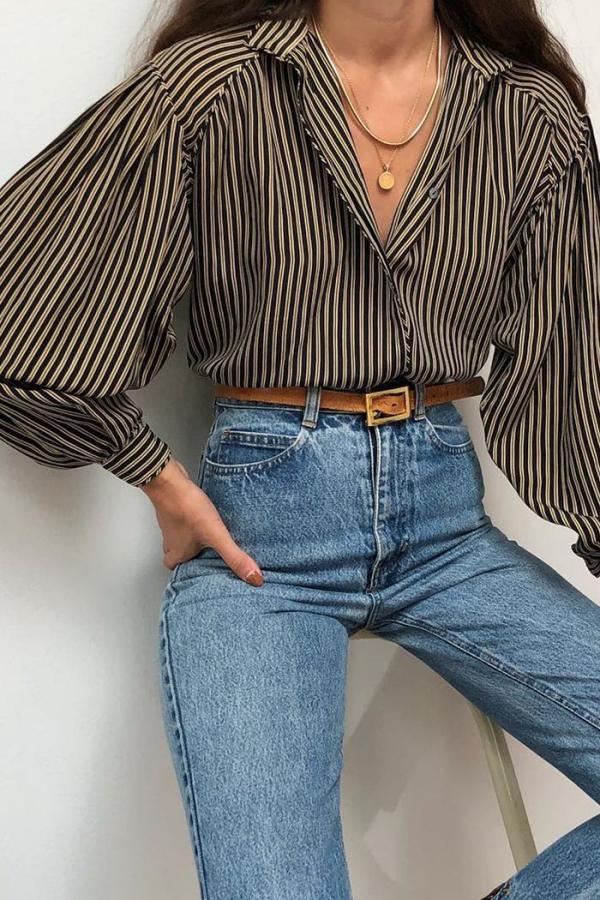 tendance mode femme 2019 jolie blouse à rayures