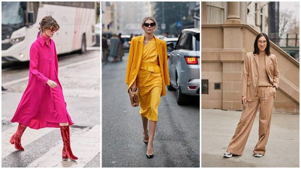 tendance mode femme 2019 monochrome s'invite