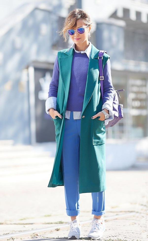 tendance mode femme 2019 sac bleu