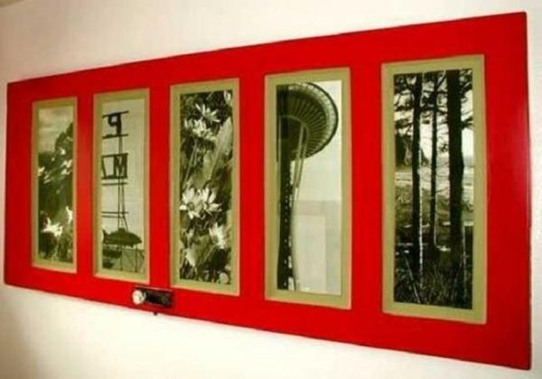 transformer une vieille porte en bois en meuble pratique tableau d'art