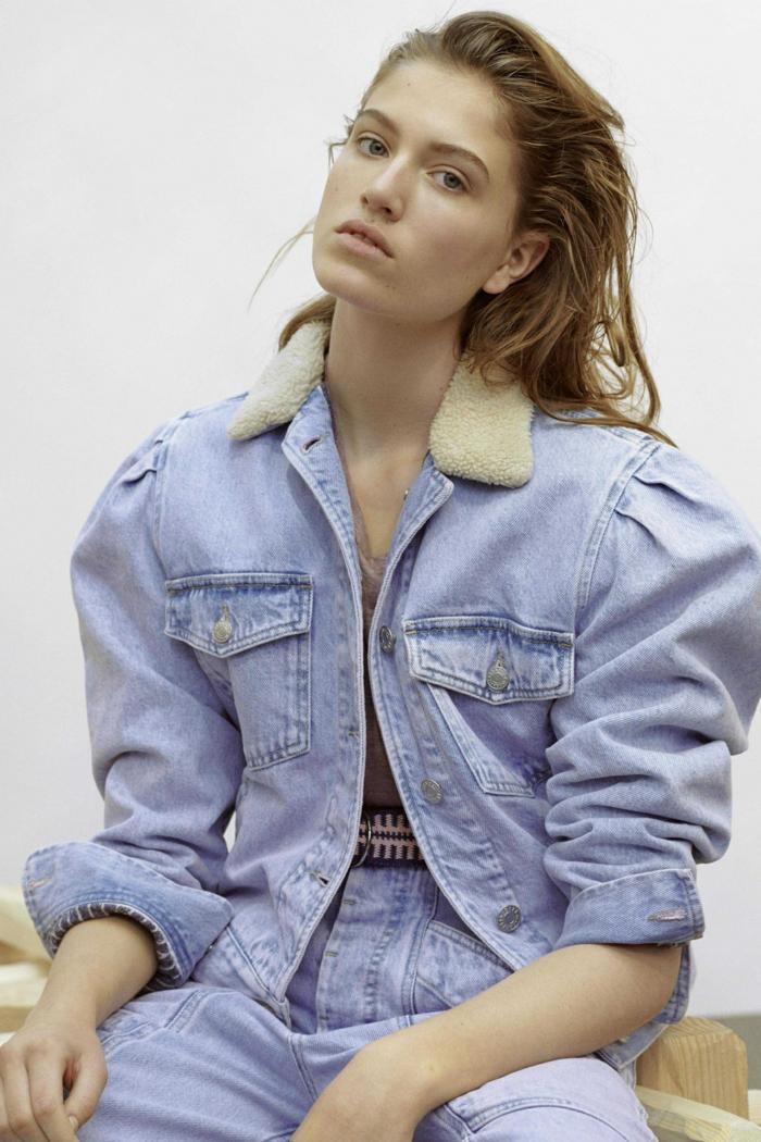 veste-en-jean-mode-femme-manches-bouffantes