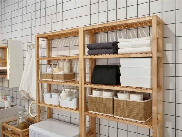 Meuble rangement salle de bain étagères ouvertes