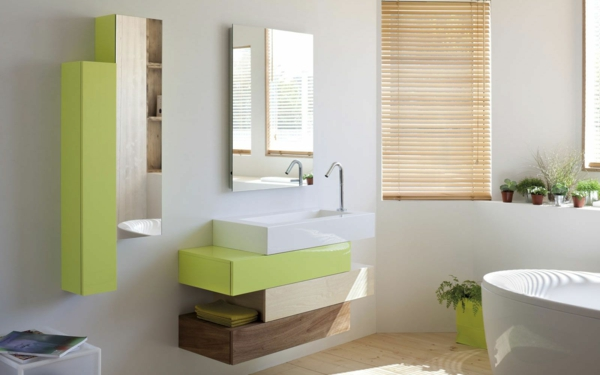 Meuble rangement salle de bain armoire basse avec tiroirs