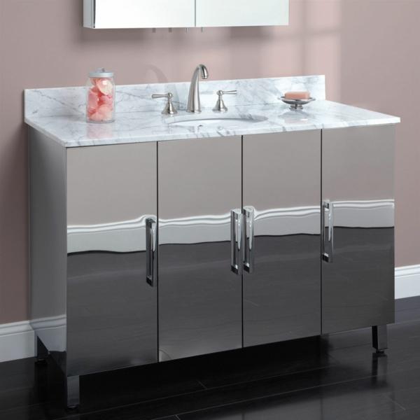 Meuble rangement salle de bain armoire en métal