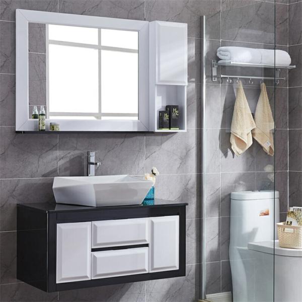 Meuble rangement salle de bain armoire en matériel imperméable