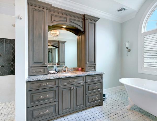 Meuble rangement salle de bain armoires basses et hautes