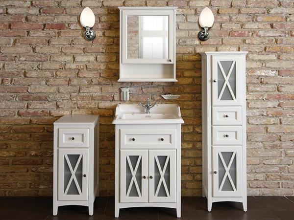 Meuble rangement salle de bain de style vintage