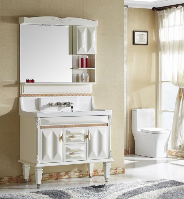 Meuble rangement salle de bain pvc
