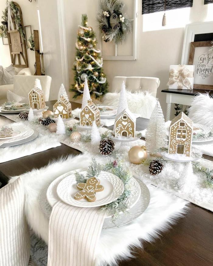 assiette de Noël déco avec des biscuits en cannelle