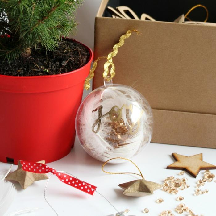 assiette de Noël déco avec une boule transparente