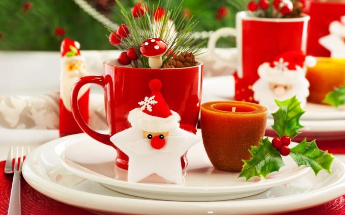 assiette de Noël déco