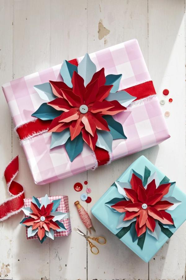 bricolage noël facile déco pour boîte cadeau en papier
