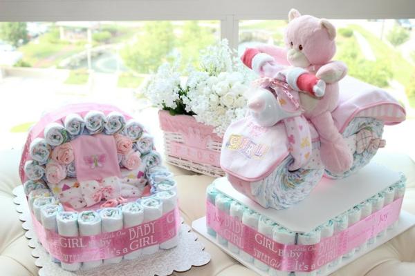 cadeau baby shower diy gâteau de couches