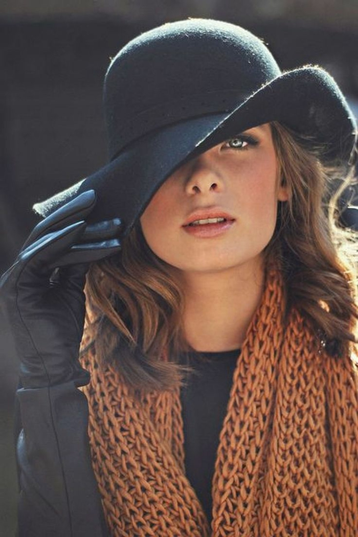 chapeau en feutre look moderne chapeau femme hiver