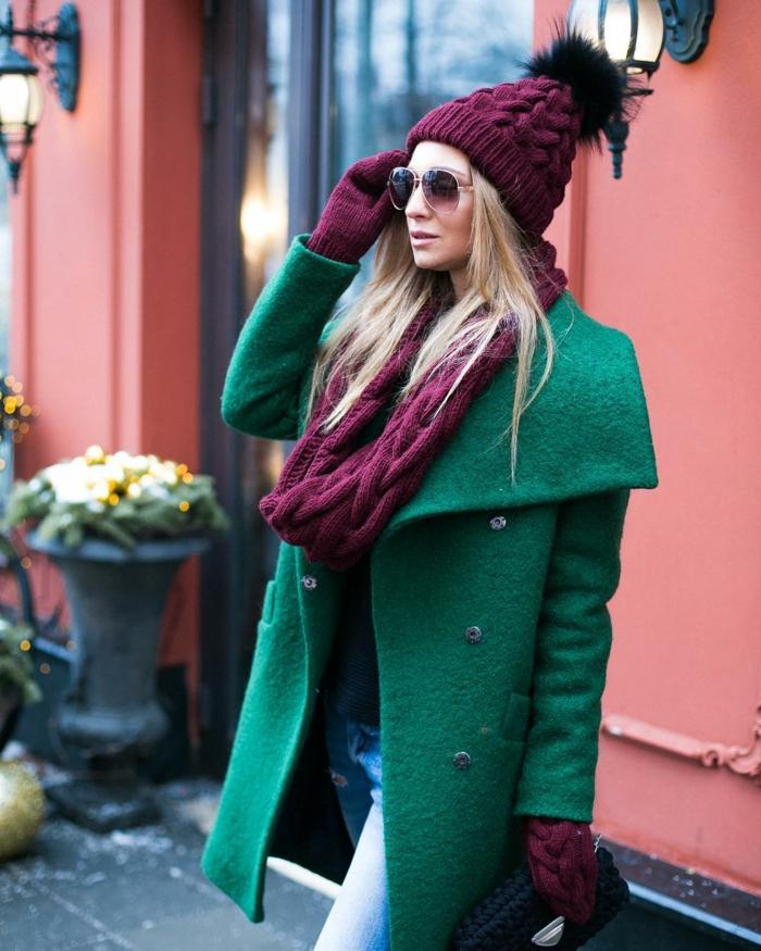 chapeau femme hiver à porter avec un manteau élégant